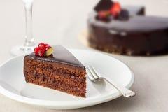 可口蛋糕的巧克力 免版税库存图片