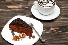 可口蛋糕Sacher 免版税图库摄影