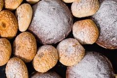 可口被烘烤的物品,传统意大利面包Ciriola Romana 库存照片