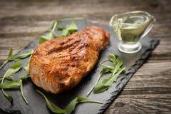 可口被烘烤的猪肉 免版税库存照片