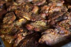 可口被烘烤的猪肉 库存照片