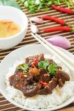 可口越南焦糖的猪肉食谱 免版税库存照片
