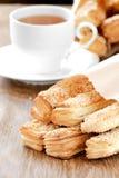 可口面包的早餐 免版税库存图片