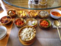可口韩国食物五颜六色的北朝鲜的烹调 库存照片