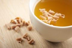 可口食物和茶 免版税库存图片