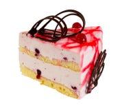可口饼干蛋糕用莓果 库存图片
