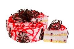 可口饼干蛋糕用莓果 免版税库存图片