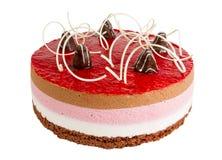 可口饼干蛋糕用莓 免版税库存照片