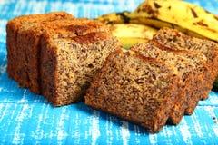 可口香蕉蛋糕 免版税库存照片