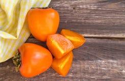 可口水多的柿子 免版税库存图片