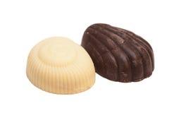 可口黑暗和被隔绝的牛奶巧克力 库存照片