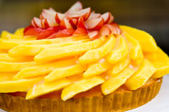 可口水果蛋糕 免版税库存照片