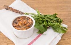 可口Neem泰国食物用甜调味汁 库存图片