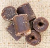 可可椰子在柳条IX的树汁糖 库存照片