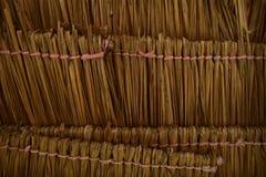 可可椰子屋顶 免版税库存照片