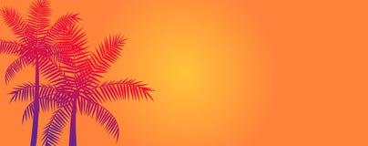 可可椰子树横幅背景 向量例证