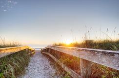可可粉海滩,佛罗里达 免版税库存照片
