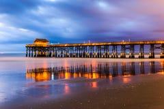 可可粉海滩佛罗里达 免版税库存图片