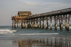 可可粉海滩码头 图库摄影