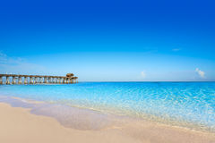 可可粉海滩码头在卡纳维尔角佛罗里达 库存图片