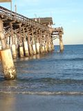 可可粉海滩码头 库存照片