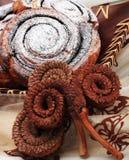 可可粉蜗牛 免版税库存照片
