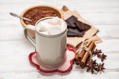 可可粉饮料用蛋白软糖 免版税库存图片