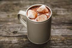 可可粉饮料用蛋白软糖 免版税图库摄影