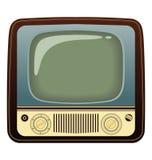 可实现的电视葡萄酒 背景指纹例证白色 免版税图库摄影