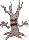 可怕动画片树 向量例证