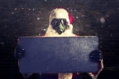 可怕圣诞老人 免版税库存图片