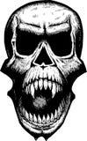 可怕头骨叫喊 免版税库存照片