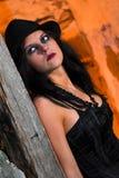 可怕女孩的goth 免版税图库摄影