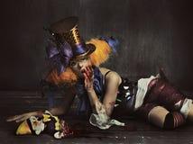 可怕妖怪小丑 图库摄影