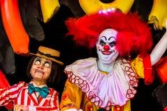 可怕小丑玩偶 库存图片