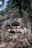 可怕岩石叫石标死亡 图库摄影