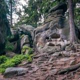 可怕岩石叫石标死亡 免版税库存照片