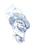 可怕恐怖小丑 库存照片