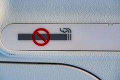 可怕抽烟签到航空器 免版税库存照片