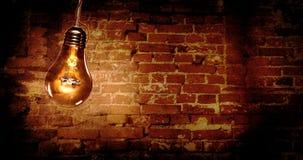 可怕电灯泡背景 库存照片