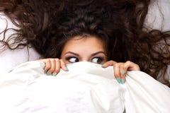 年轻可怕的妇女 免版税库存照片