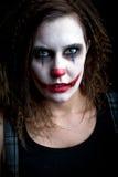 可怕的小丑 免版税库存图片