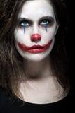 可怕的小丑 免版税图库摄影
