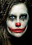 可怕的小丑 免版税库存照片
