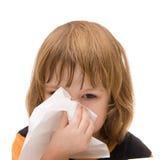 可怕的流感 库存照片