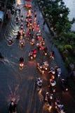 可怕的被充斥的街道在胡志明市 库存照片