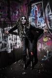 可怕邪恶的小丑女孩 库存图片