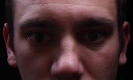 可怕面孔看 免版税库存图片