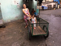可怜的人在越南 库存图片
