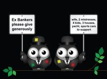 可怜的银行家 皇族释放例证